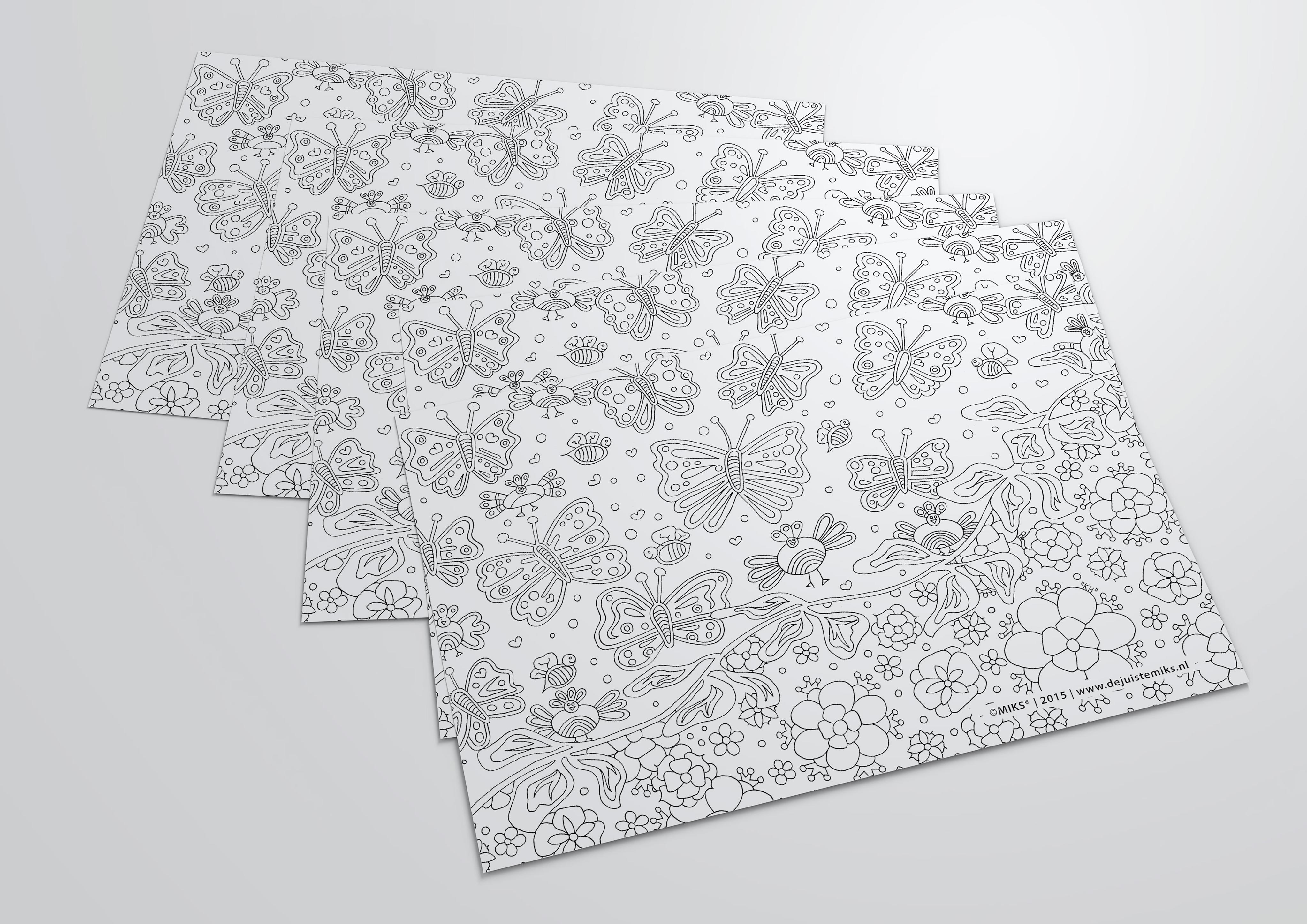 Kleurplaat laten ontwerpen for Spiegelfolie gamma